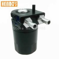 Aluminum Polish Baffled Universal Aluminum Oil Catch Can Reservoir Tank Black