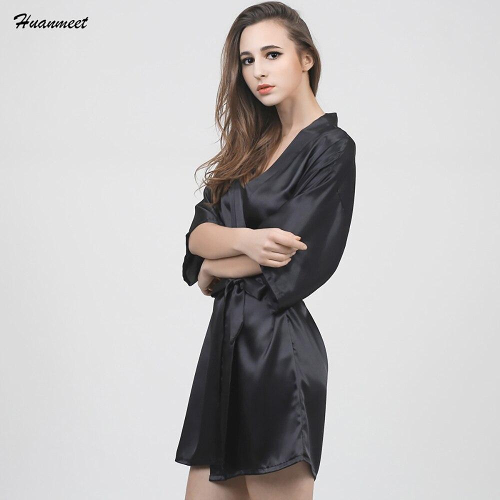 Comprar Huanmeet Marca Silk Robe Camisón Albornoz Ropa De