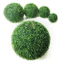 Anmas Home Grass Bonsai Artificial Topiary 4pcs 10/15/30/40cm Green Simulation Ball Shop Mall Supplies Indoor Outdoor Decoration