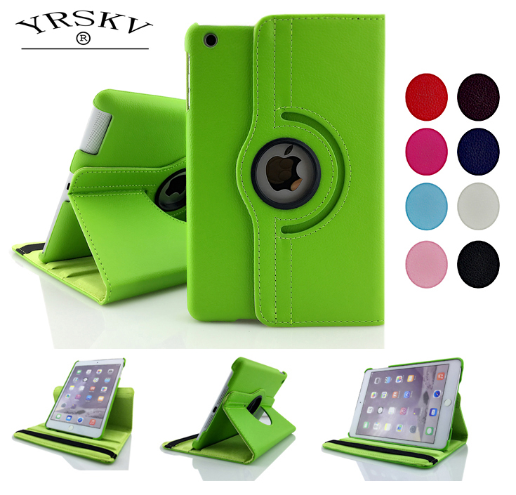 Case for iPad 2 iPad 3 iPad 4 YRSKV 360 Pu Leather Rotating Smart Auto Sleep Wake Stand Tablet Case for iPad 2/3/4 tablet case for ipad 4 for ipad 3 for ipad 2 for ipad 9 7 inch pu leather smart cover stand case shell