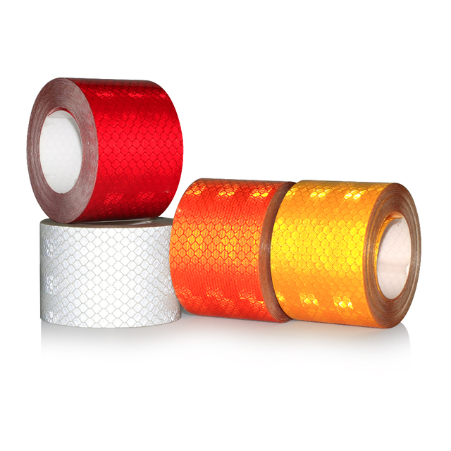 High quality 5x200cm Car Reflective Tape Stickers Auto Motorcycle Safety Reflective Material Film Warning Tape Car