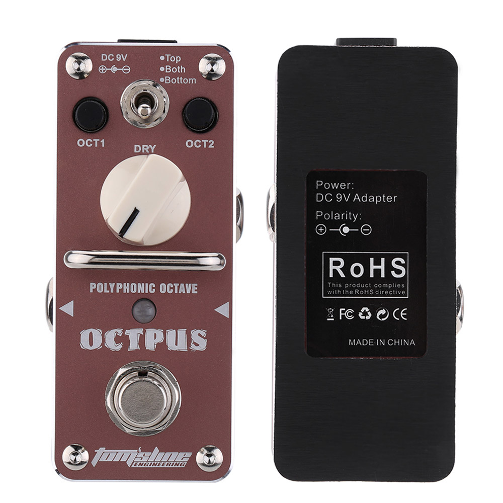 AROMA AOS 3 Octpus Guitar Pedal Polyphonic Octave Electric Guitar Effect Pedal Mini Single Effect with