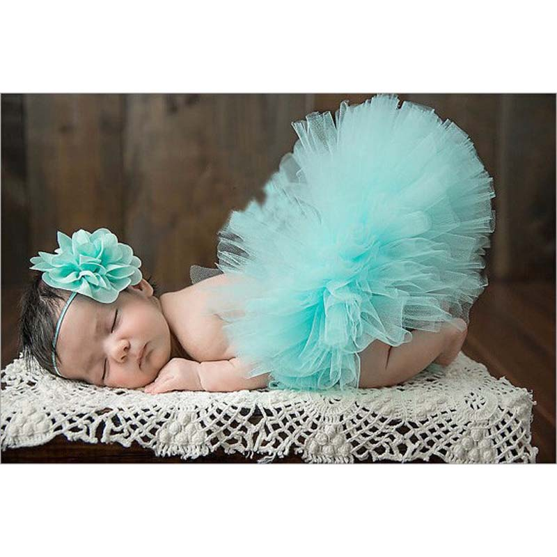 NEW-4-Colors-Newborn-Tutu-Skirt-With-Matching-Flower-Headband-Stunning-Newborn-Photo-Prop-Girl-Tutu-Skirt-4