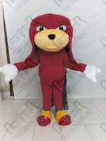 cartoon sonic mascot costumes chararter red game costumes Knuckles the Echidna mascot costumes Sonic The Hedgehog