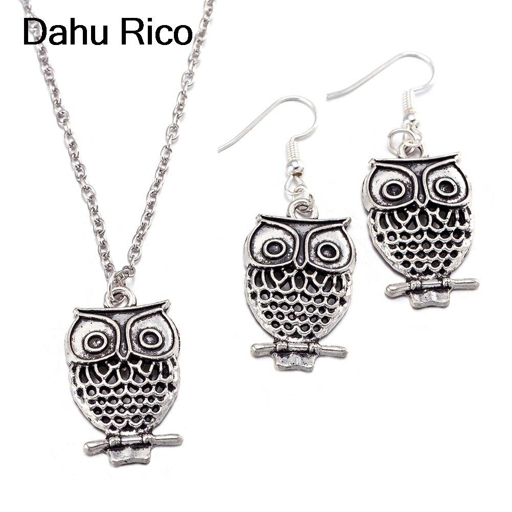 owl conjuntos sets taki seti dia de la madre midi algeria druzy moda roxi Dahu Rico jewelry sets srebrne