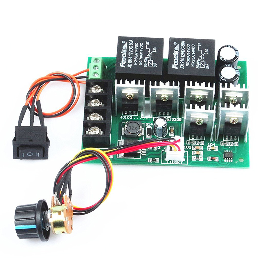 pwm speed electronic 40A DC12V / 24V / 36V / 48V Brushed motor controller Maximum Power of 2000W Third gear forward/reverse/stop motor speed controller regulator dc12v 24v 36v 48v 40a 1000w hho pwm variable speed switch