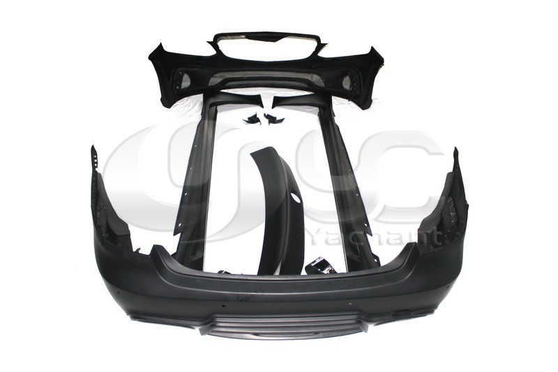 2013-2015 Mercedes Benz W212 E Class Sedan Wald Sports Line Black Bison Edition Style Body Kit FRP (3)