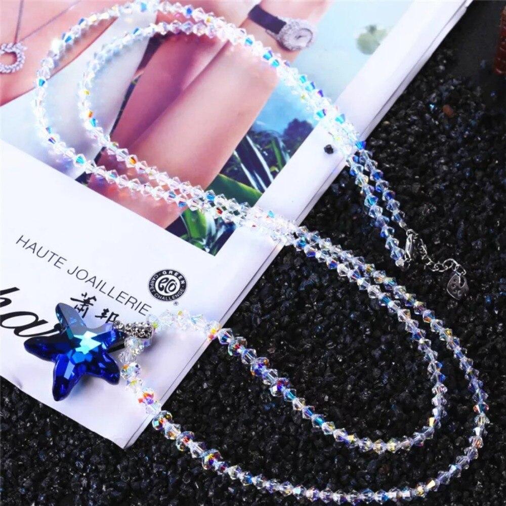 SWAN bijoux luxe cristal étoile Long colliers femmes mode chandail chaîne collier filles accessoires de mariage cadeau de fête Femme