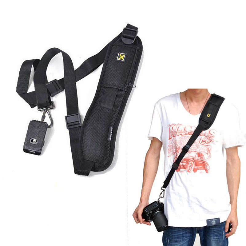 New Arrival 1pc Black Quick Rapid Shoulder Belt Professional Camera Neck Strap Sling 8cm Supports Digital Camera DSLR SLR Mayitr