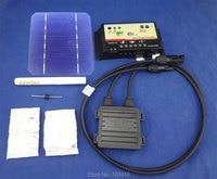 40 pcs MONO 5X5, DIY kit for solar panel, solar cells, regulator, bus tabbing wire, diode, junction box