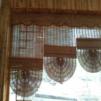 Aqumotic Living Room Divider Curtain Bamboo Screen Room Divider Wall Stand Fold Japanese Curtains for Kids Can Be Customized