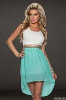 New Arrive Women Cute Chiffon Lace Party Dress M L XL Plus Size Hot Sale