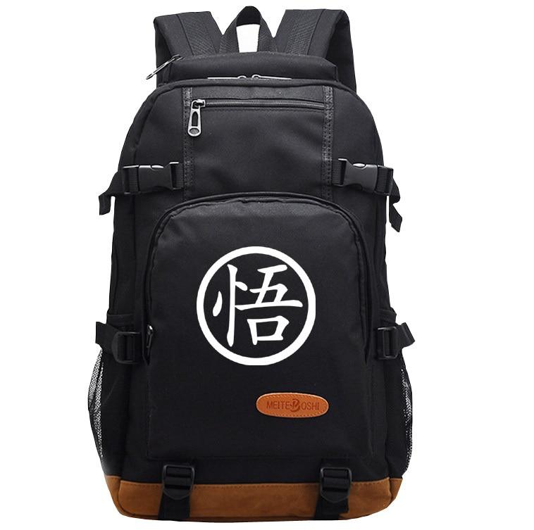 Japanese Anime Dragon Ball Z DBZ Laptop Backpack Shoulder Travel Black BagsJapanese Anime Dragon Ball Z DBZ Laptop Backpack Shoulder Travel Black Bags