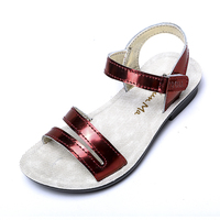 ff488d2d7 Mini Melissa Fashion Girl Sandals Leather Summer Baby Beach Shoes 2018  Children Gladiator Infant Toddler Kids. Mini Melissa Moda Menina Sandálias  De ...