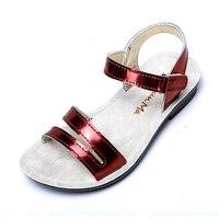ff488d2d7 Mini Melissa Fashion Girl Sandals Leather Summer Baby Beach Shoes 2018  Children Gladiator Infant Toddler Kids. Mini Melissa Moda Menina Sandálias  De ...