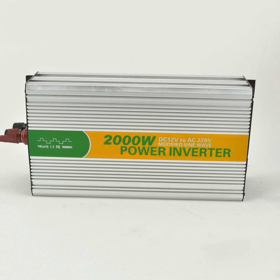 M2000-122G convertir modifié LED sinus 12 v 220/230 v onduleur 2000 w tbe onduleur avec onduleur ventilateur buiIt-dans le fusible