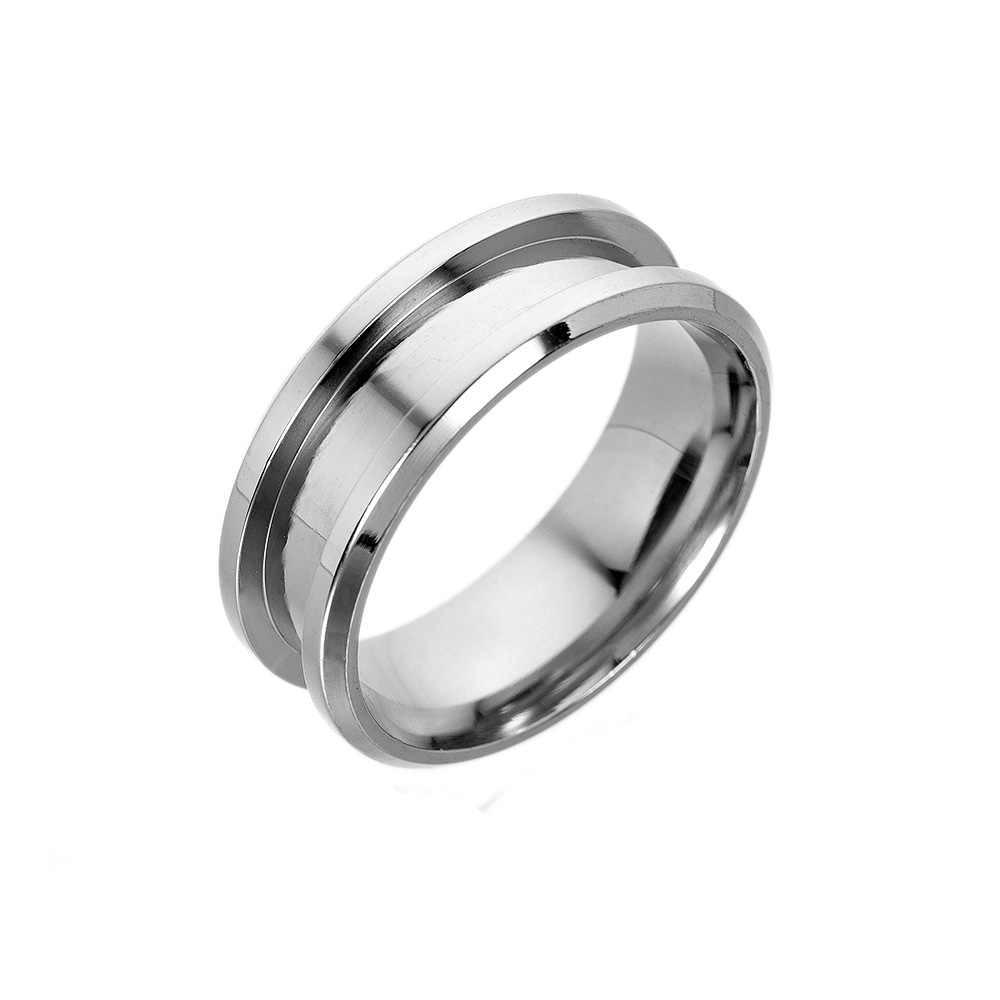 8mm Handmade Metal Blank Rings DIY Jewelry Making Supplies Craft
