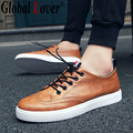 Global Lover 2016 Autumn New Arrival Mens Shoe Platform Retro Brogue Shoes Round Toe Black Brown Male Oxford Shoes Free Shipping
