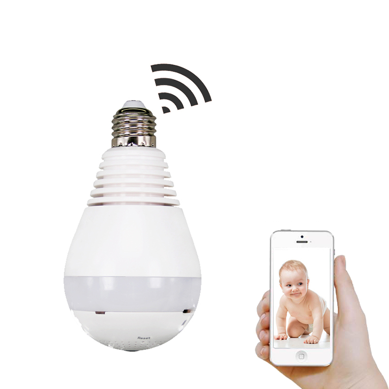 Bulb Light Wireless IP Camera Wifi Home Security 1.3MP 960P Fisheye 360 Degree Panoramic P2P Onvif Audio Surveillance CameraBulb Light Wireless IP Camera Wifi Home Security 1.3MP 960P Fisheye 360 Degree Panoramic P2P Onvif Audio Surveillance Camera