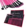 New 16 PCS Wood Makeup Brush Cosmetic Tool Kit Eyeshadow Powder Brushes Set + Case