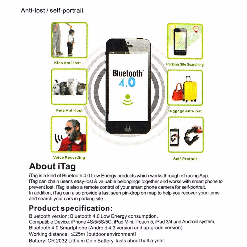Image 5 - Anti lost Alarm Smart Tag Wireless Bluetooth Tracker Child Bag Wallet Key Finder GPS Locator anti lost alarm itag-in Smart Activity Trackers from Consumer Electronics