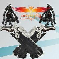 Hot Game OW Over Reaper Weapon Resin Hellfire 2 Shotguns 52CM Cosplay Prop 2 Guns