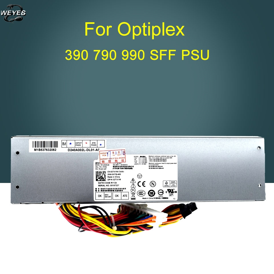 NEW original power supply for OPTIPLEX 790 990 3010 7010 SFF 240W power supply H240AS-00 L240AS-00,3WN11 2TXYM CV7D3 k345r 305w power supply for dell optiplex 980 f305p 00