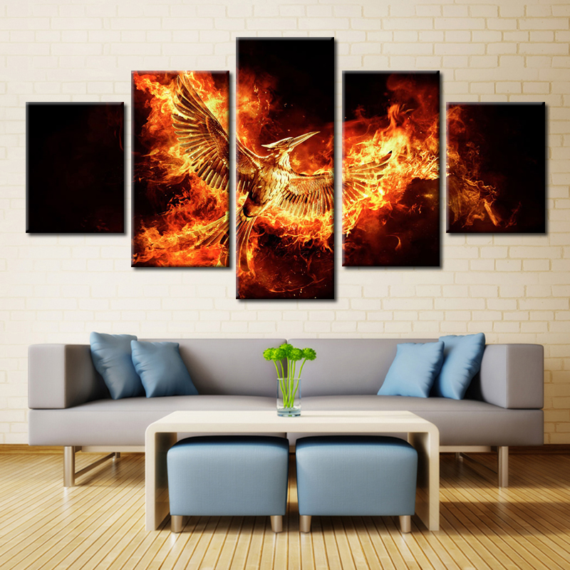 5 Panel The Hunger Games Mockingjay Wall Art Modular