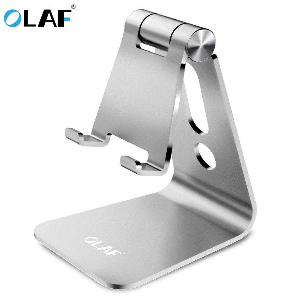 L'OLAF Universel Aluminium Alliage Téléphone Support à Réglable Cellulaire Téléphone Stand De Charge Trou De Bureau Tablet Support Pour iphone 7 8