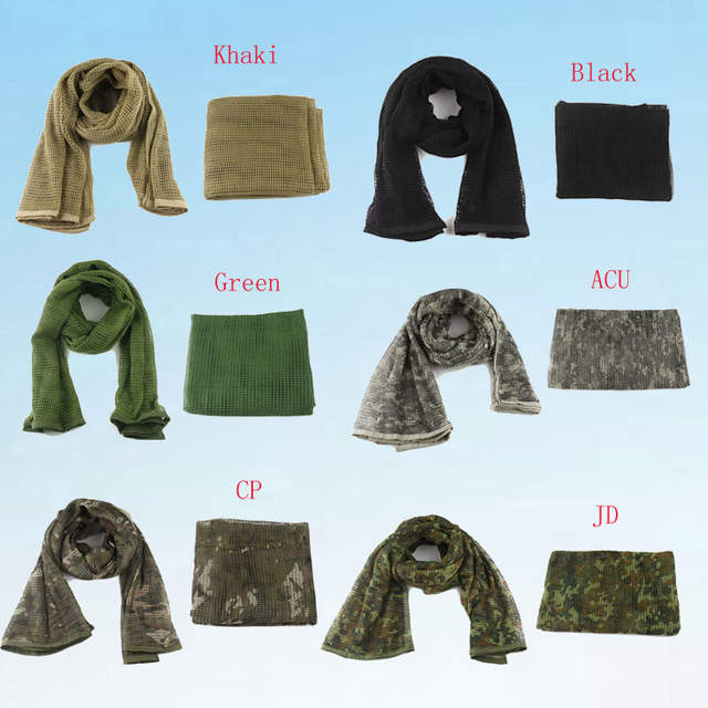 US $10 08 20% OFF Multifunction Military Camouflage Mesh scarf Outdoor  Tactical scarf Sniper Face Veil Scarves for Airsoft Hunting Hiking -in  Scarves