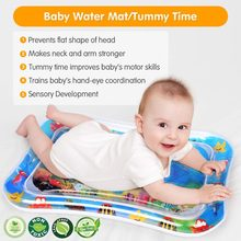 Baby Play Mat Water Cushion Mat Pad for Summer Toddler Tummy Time Toy Dual Use Inflatable PVC Pat Pad for Baby Kids Children's(China)