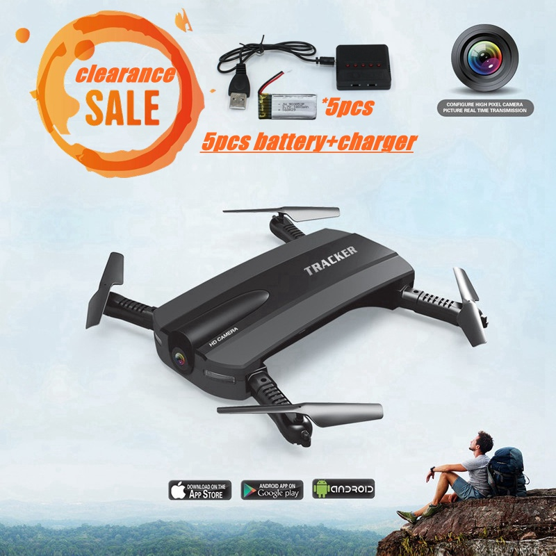 Clearance Sales 5 Battery Fpv Drone With Camera Drone Wifi Rc Quadcopter Flying Rc Helicopter For Kids Mini Selfie Dron JXD 523