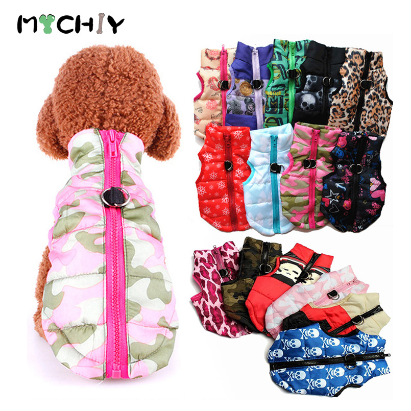 Warm Dog Winter Clothes For Small Dog Coat Jacket Puppy Pet Clothes For Dogs Costume Vest Apparel Chihuahua French Bulldog