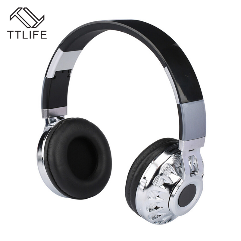 TTLIFE M12 Bluetooth Headphone Wireless Stereo Headset with Mic Support TF Card FM Radio Over the Ear Headphones for Phone Music zealot b570 headset lcd foldable on ear wireless stereo bluetooth v4 0 headphones with fm radio tf card mp3 for smart phone