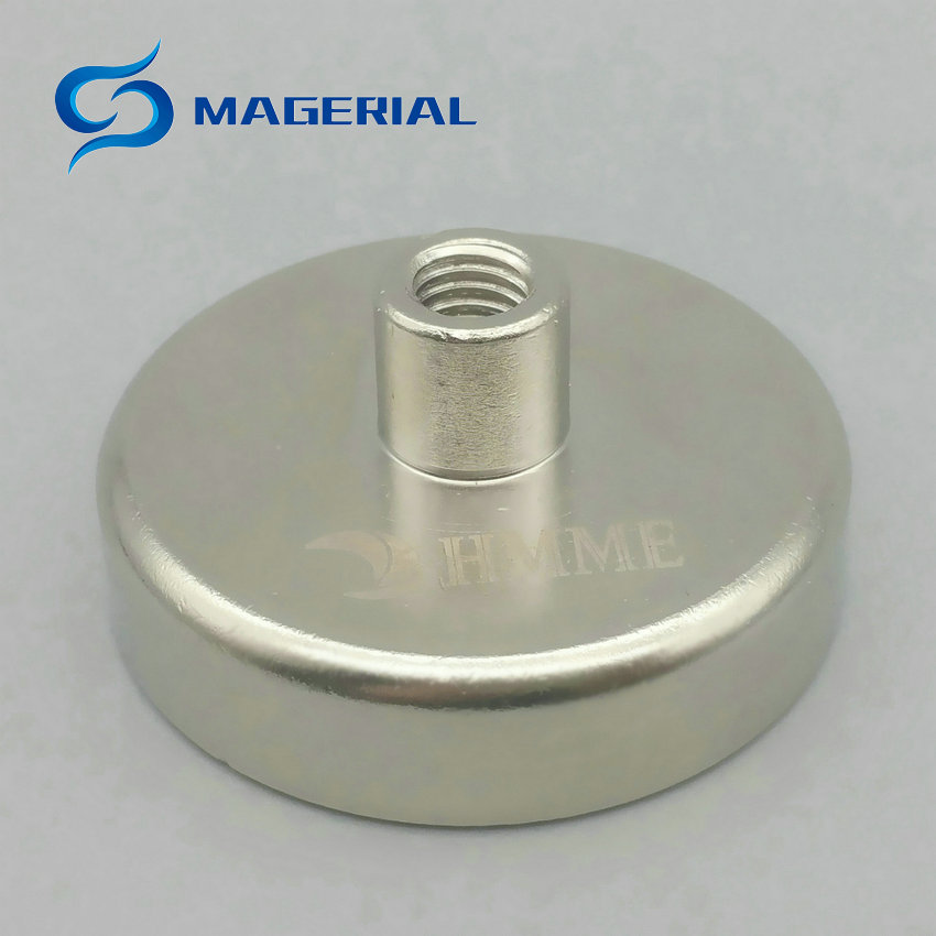 10pcs Mounting Magnet Diameter 42/48 mm Clamp Pot Magnet with Thread Neodymium Lifting Magnet Permanent Strong Holding Magnet 1 pack mounting magnet diameter 12 mm clamping pot magnet with steel hook neodymium lifting magnet strong magnet lathed cup