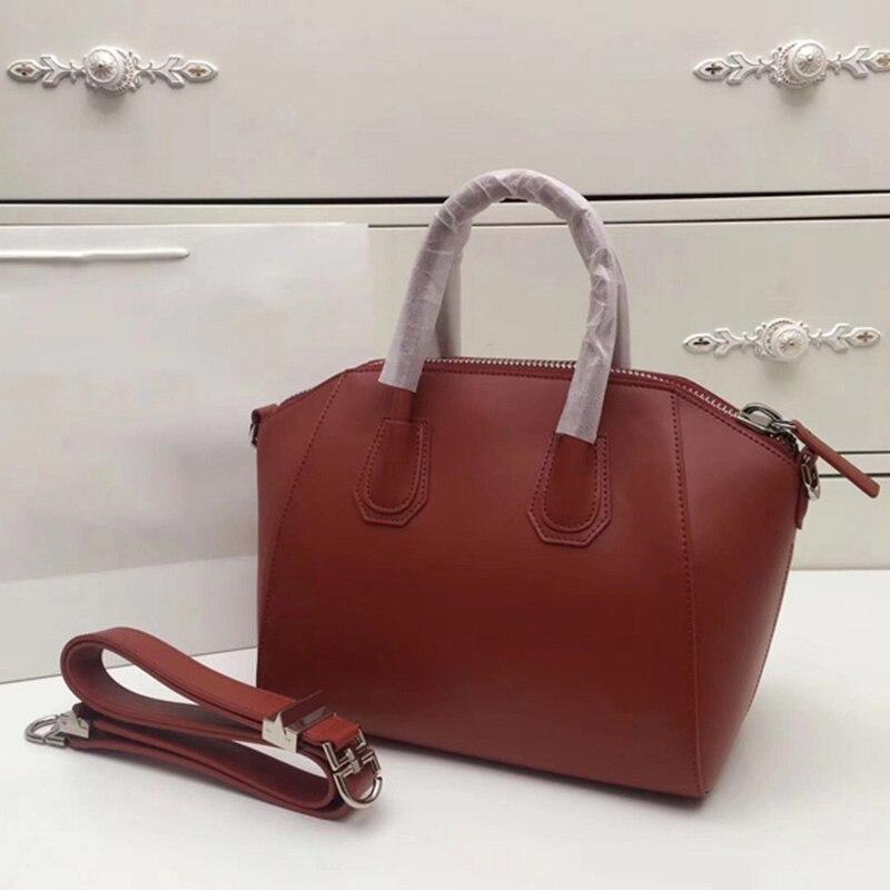 حقائب يد جلدية كبيرة المرأة حقيبة عالية الجودة عارضة الإناث أكياس جذع ToteShoulder حقيبة السيدات كبيرة Oumisi-في حقائب قصيرة من حقائب وأمتعة على  مجموعة 1