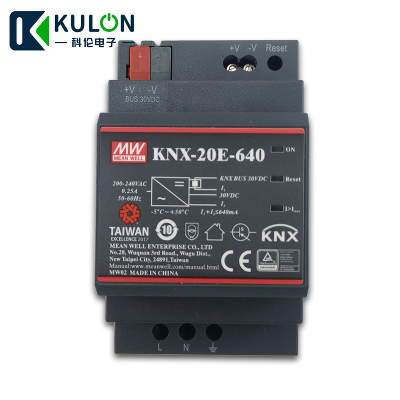 Original MEAN WELL KNX-20E-640 640mA 30Vdc 20W meanwell KNX Power Supply KNX-20E with integrated chokeOriginal MEAN WELL KNX-20E-640 640mA 30Vdc 20W meanwell KNX Power Supply KNX-20E with integrated choke