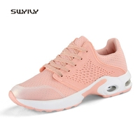 SWYIVY Women Running Shoes Super Light Mesh Breathable Sneakers 2018 New Cushion Wear Resistant Comfortable Female