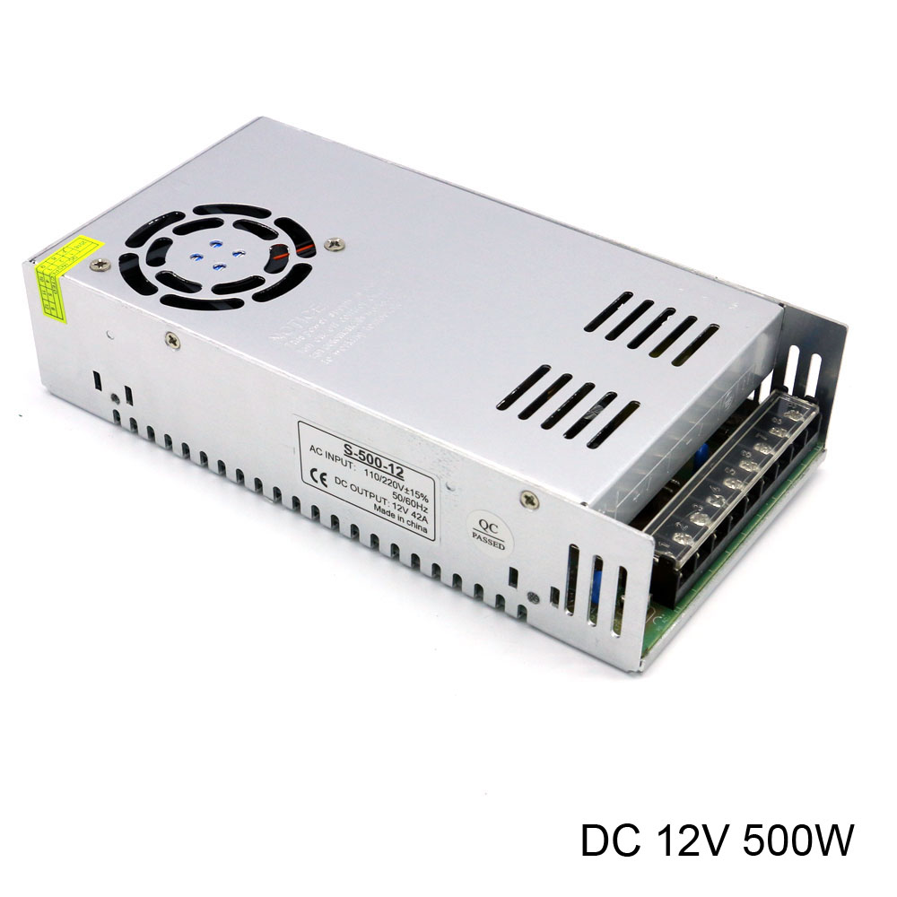 DC 12V Switching Power Supply AC 110V/220V to DC 42A 40A 500W Power Source Led Driver switching power supply 12v 6a 80w source power 12 v 220v to 12v ac dc power supply dc12v 80w source fuente de alimentacion