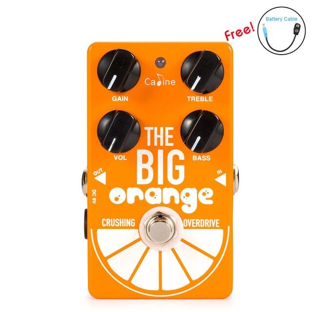 Nova chegada caline CP 54 od pedal de guitarra overdrive o grande laranja esmagamento overdrive efeito guitarra pedal true bypass efeito venda