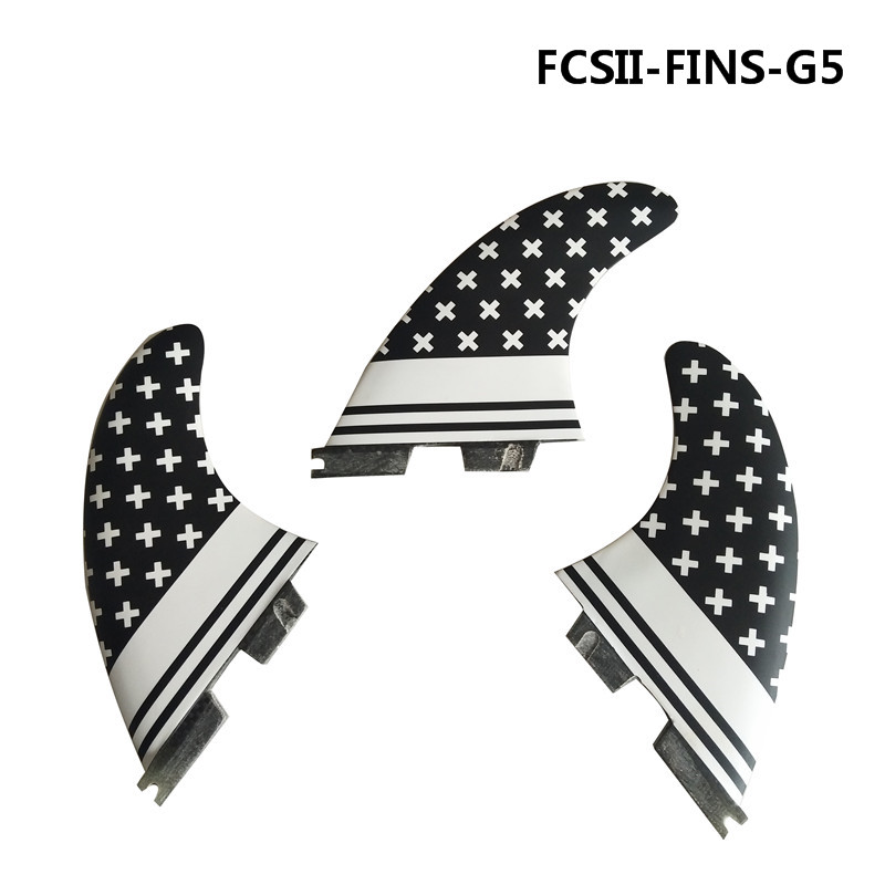 Surfing FCS2 G5 Fin black and white star lovely fin Quilhas Surfboard Fins Surfing Fins Honeycomb 10 inch surfing longboard fins quilhas paddle surfboard longboard fins fiberglass wakeboard fins