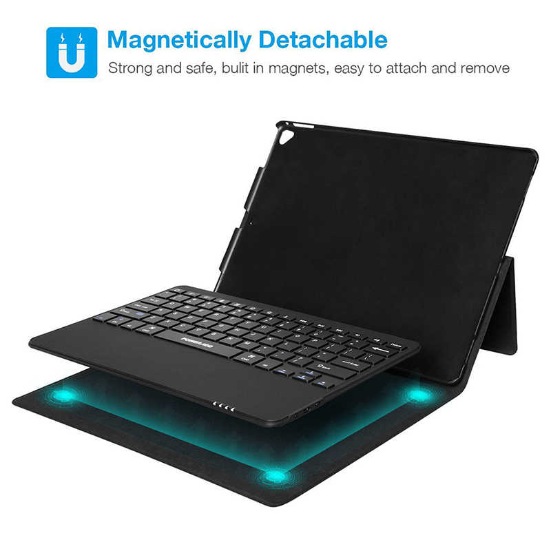 Para Apple iPad pro 12,9 Funda de cuero con teclado tableta ultrafina 3,0 teclado Bluetooth funda/funda + portalápices