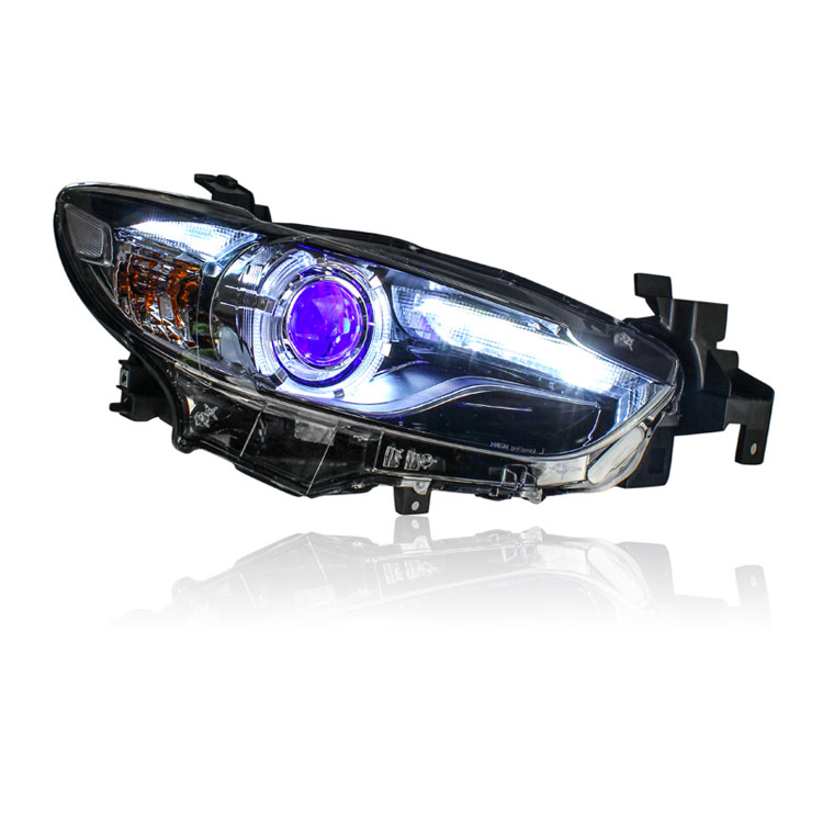 Ownsun LED DRL Bi-xenon Projector Lens Turn Singal Headlights For Mazda 6 Atenza 2014-2015 for chevrolet cruze tuning bi xenon projector lens head lights with led turn light 2015 year new arrival