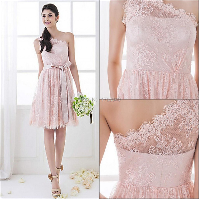 Short Pink Lace Dresses