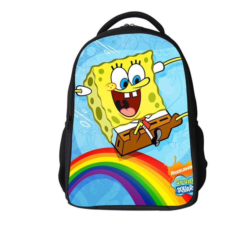 Hot Sale SpongeBob SquarePants Backpack Customized Girls Boy Cartoon Children School Bag New Design Gift Kids Free Shipping