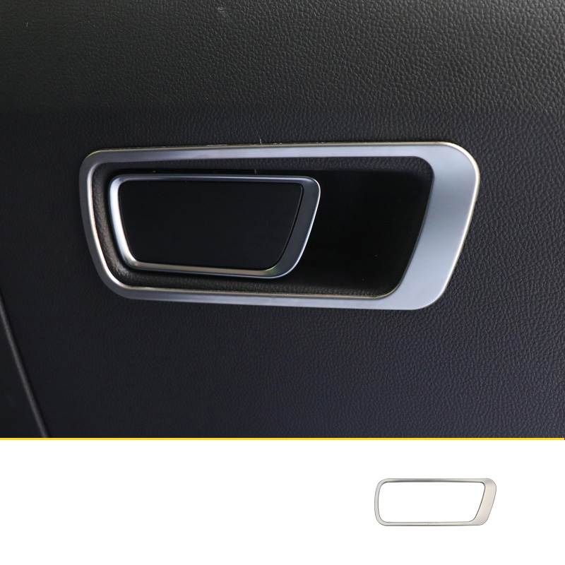 lsrtw2017 blue stainless steel car dashboard co-piolot storage handle trims decoration for changan cs75 2018 2019