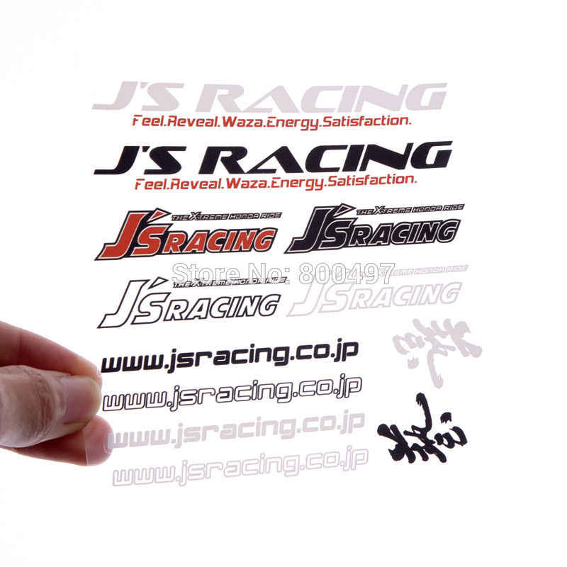 新車スタイリングクリエイティブオートセット車バンパードアハンドル全身デカール装飾防水ビニールのためセット JS レース