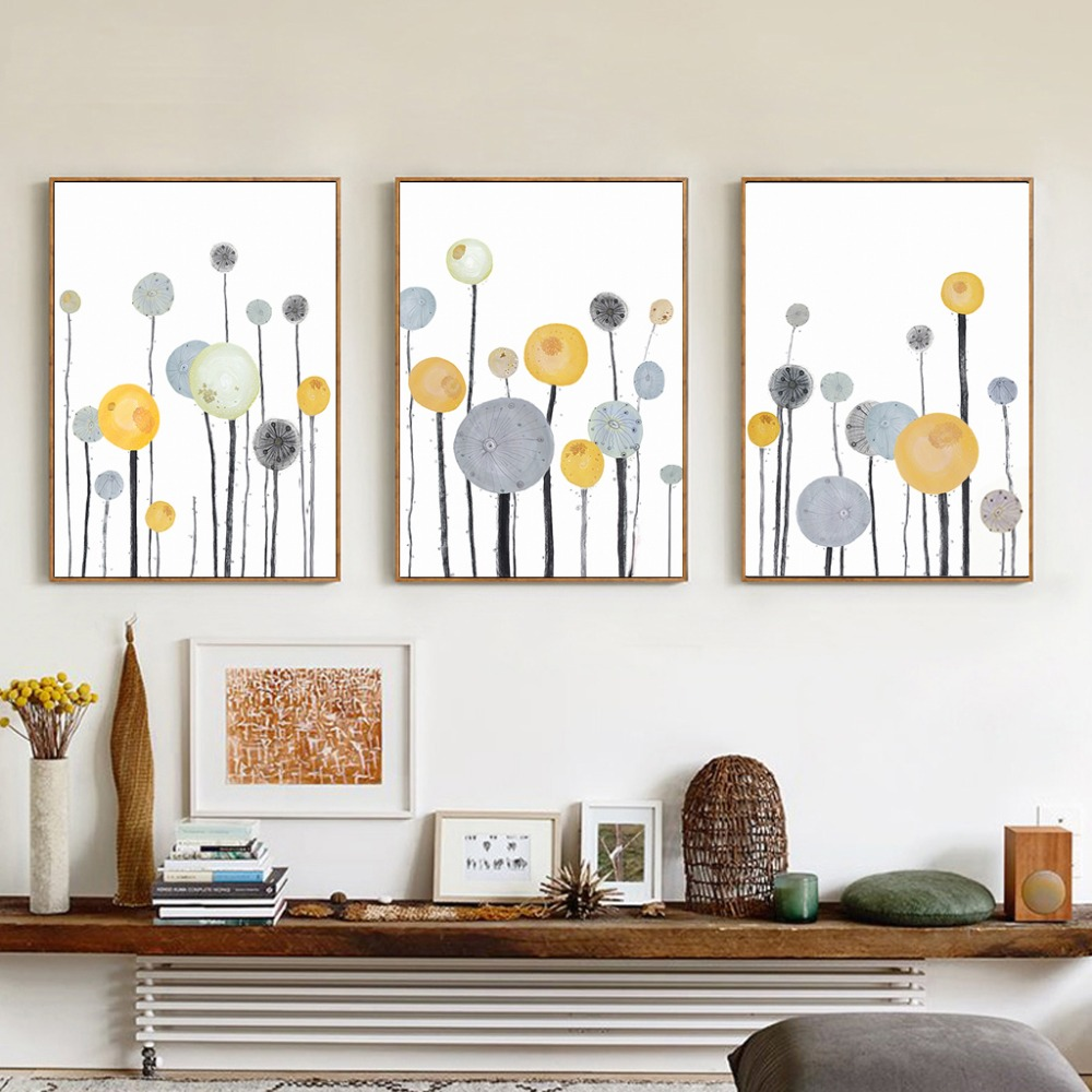 modern simple abstract tree canvas painting pictures