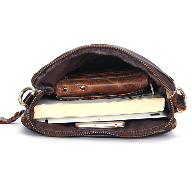 CONTACT'S Fashion Genuine Leather Shoulder Bag Men Crossbody Bags Small Over-the-shoulder Messenger Bags Luxury Male Travel Bag 4