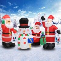 120cm/180 cm/240cm Air Inflatable Santa Claus Snowman Outdoor Airblown Christmas Decoration Figure Kids Classic Children Toys
